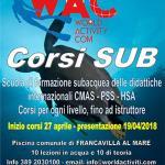 Info WAC 06-2018: Inizio corsi primaverili